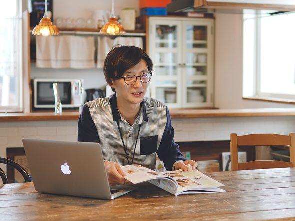 楓工務店 広報企画部の岩崎壮也さん写真